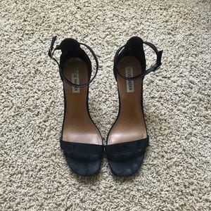 Steve Madden Black Strappy Heels
